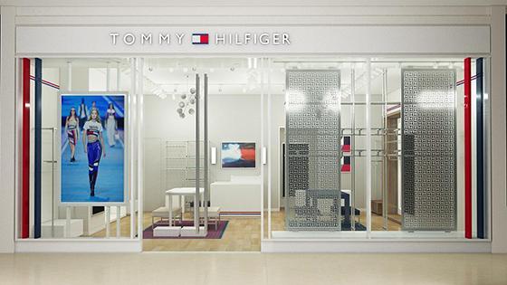 Showroom thời trang Tommy Hilfiger